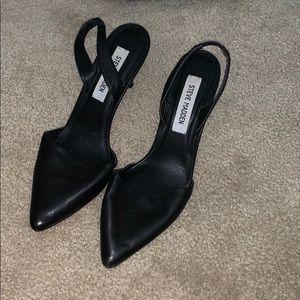 Steve Madden Black Pointed Toe Heels